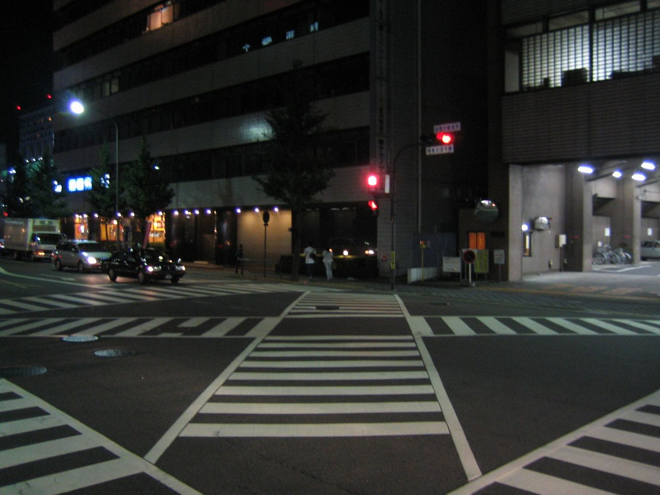 bekannte Strassenkreuzung in Kyoto