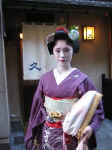 ausgebildete Geisha