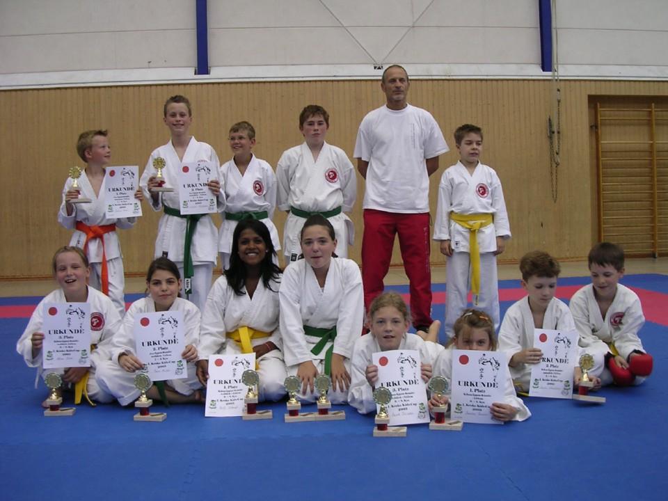 Die Teilnehmer des Kroko Kids Cup 2005 in Ludwigshafen