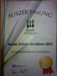 Auszeichnung 2013