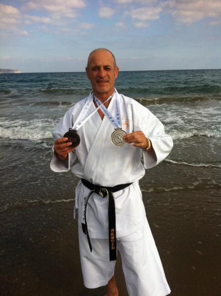 Dieter Ebner wird Vize-Meister Karate-Weltmeisterschaft 2013 auf Kreta