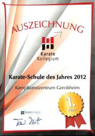 Auszeichnung 2012